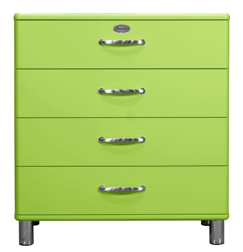 Tenzo 5124-021 Malibu - Designer Kommode 92 x 86 x 41 cm, MDF lackiert, grün