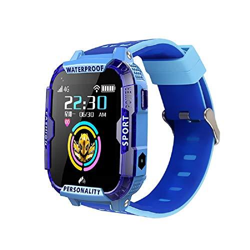T19 - Reloj inteligente para niños, 4G para niños, rastreador GPS con posicionamiento preciso de LBS, WiFi para teléfono celular con llamada SOS, vídeo HD y fotografía de toma remota para estudiantes