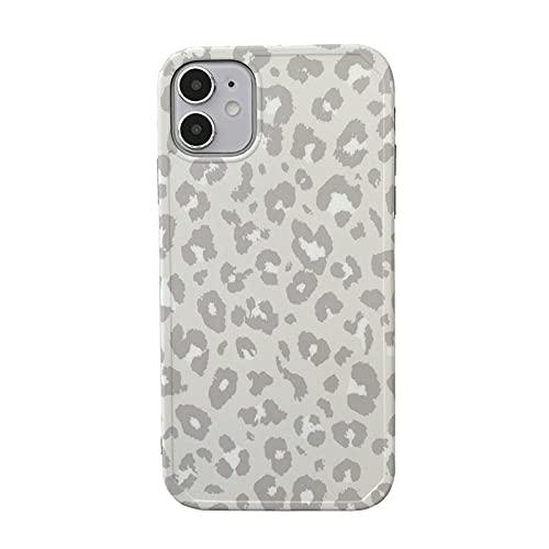 DSMYYXGS Moda Coreana Retro Sexy Leopardo Mujer Caja del teléfono For iPhone 12 11 Pro MAX XR XS MAX 12 Mini 7 8 Plus Caso Linda niña Cubierta Suave (Color : A, Size : For iPhone12 Pro MAX)