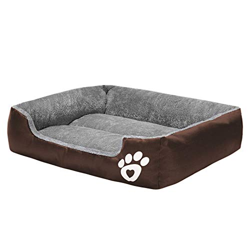 Cama para mascotas para perros pequeños/medianos/grandes/extragrandes, súper suave, cama para gatos y sofás, cama para mascotas de alta calidad (XXL, marrón)