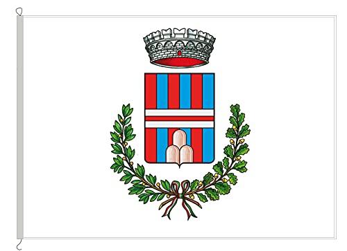 AL PRODUCTION En la producción Frecuentes de Druogno Med. 150 x 220 Bandera de Tejido náutico Cuerda y Funda