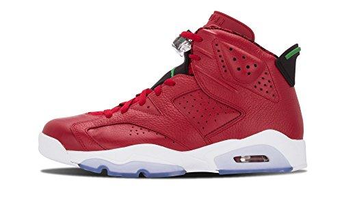 Nike Herren Air Jordan 6 Retro Spizike Turnschuhe, Rot/Grün/Schwarz/Weiß (Varsity Red/Clssc-Blck-Wht Grn), 44 EU
