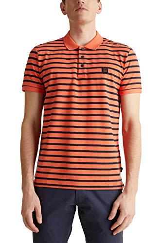 Esprit 020EE2K304 Camisa de Polo, 812/Rust Orange 3, S para Hombre