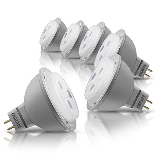 OSRAM LED-Reflektorlampe GU5.3 Star MR16 12V / 3W - 20 Watt-Ersatz, LED-Spot Abstrahlungswinkel 36° / warmweiß - 2700K, 6er Pack