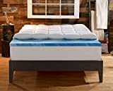 Sleep Innovations Gel Memory Foam 4-inch Dual Layer Mattress Topper,...