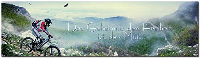 GRAZDesign Wandbilder mit Sprüchen - Acrylglasbild Panorama Natur Landschaft - das Geheimnis der Freiheit ist der Mut - Hohe Qualitt   180x50cm   100030_004_01_04