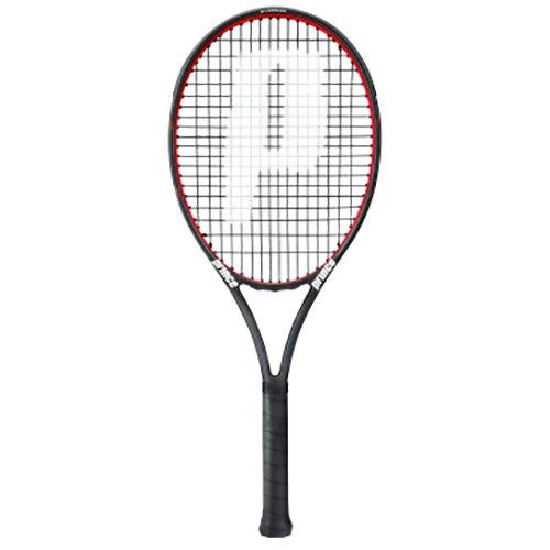 Prince Turnierschläger Warrior 107 T Tennisschläger, Schwarz, 2