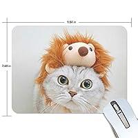 Jiemeil マウスパッド 高級感 おしゃれ 滑り止め PC かっこいい かわいい プレゼント ラップトップ などに 猫柄 ネコ 可愛い かわいい 漫画 絵柄