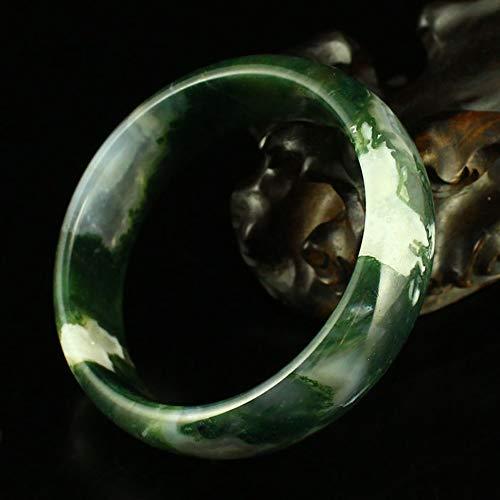 KTT 61mm Natürliche Wasser Gras Achat Jaspis Armband Smaragd Jade Armband Chinesische Jade Armreif Für Frauen Mit Zertifikat