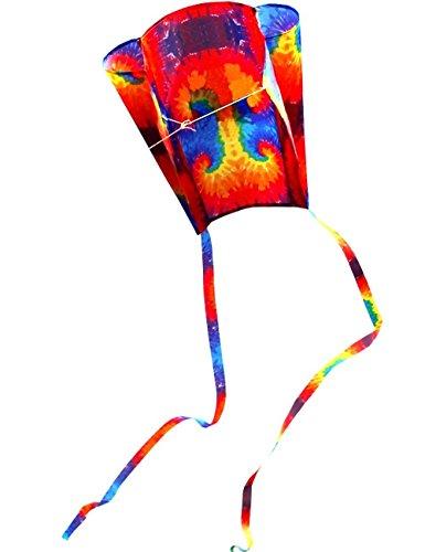 Hengda Kite For Kids 31-Inch Colorful Parafoil Kite