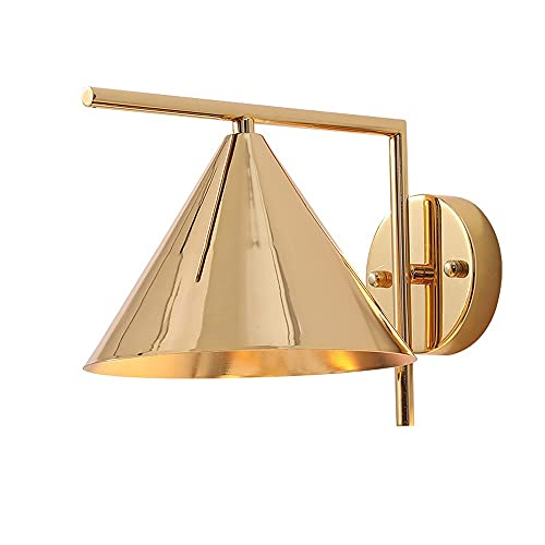 American Minimalism Sconce Wall Lamp Gold Tapered Iron Lamp Body Embedded System Wall Lights E27 Base Wall Lighting for Living Room Bedroom Bedside Hotel