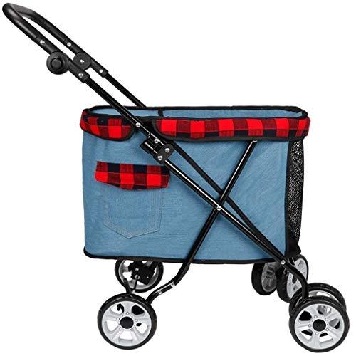 WCX huisdier Buggy trolley hondenwagen Pet Jogger Opvouwbare vierwielaandrijving auto ophangsysteem maximaal gewicht 15 kg C