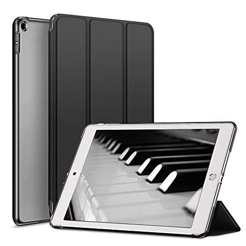 aoub Cover Kompatibel für iPad 9.7 2018/2017 Hülle, Smart Hülle Schlanke, Licht PC-Schutzhülle für die hintere Abdeckung mit Auto Wake/Sleep Fit iPad 9,7 Zoll iPad 5./6. Generation Hülle,Schwarz