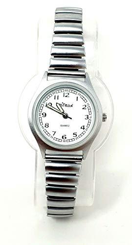 Mitron Damenuhr Silber mit Flexband / 63476