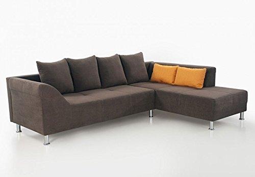 expendio Polsterecke AVA, 266x194cm, braun Mikrofaser, Ecksofa Couch Sofa Wohnlandschaft Eckcouch