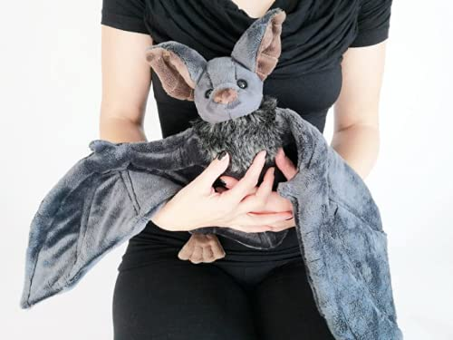 sitfe Big Bat Plush Toy for Kids, Embrace Stuffed Animal Toys Soft Hug Furry Gifts for Boy Girl Toddler 11 inches (Grey 73cm)