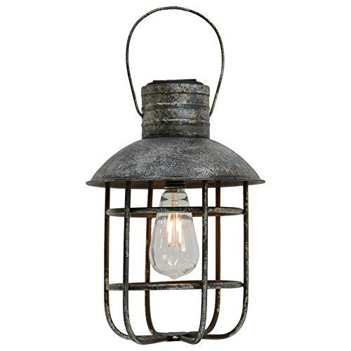 LED Solar Pendel Leuchte Garten Laterne Käfig Hänge Außen Balkon Leuchte antik schwarz Harms 507253