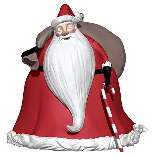 Hallmark Keepsake Ornament 2020, Disney Tim Burton's The Nightmare Before Christmas Collection Santa Claus Storytellers With Light and Sound