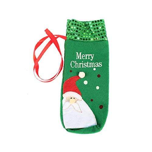 Zhouzl Hogar & Jardín Bolsa de Botella de Vino de Papá Noel de Navidad Hogar & Jardín