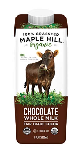 Maple Hill Shelf Stable Milk, 100% Grass-Fed, Organic, Whole Chocolate, 8 fl oz