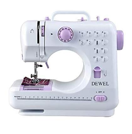 La mini machine à coudre LE-CEA-0010-WT-2 de Dewel
