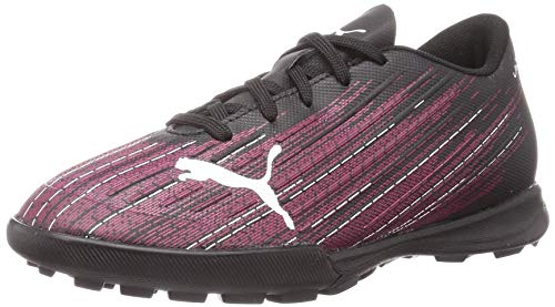 PUMA Ultra 4.1 TT JR, Zapatillas de fútbol Unisex niños, Black Luminous Pink White, 30.5 EU