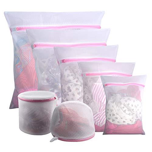 Gogooda 7Pcs Mesh Laundry Bags for Delicates with Premium Zipper, Travel Storage Organize Bag, Clothing Washing Bags for Laundry, Blouse, Bra, Hosiery, Stocking, Underwear, Lingerie