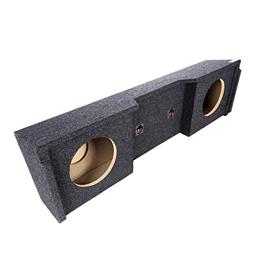 """Atrend Bbox A152-10CP Dual 10"""" Sealed Subwoofer Enclosure Fits 1999-2007 Chevrolet/GMC Silverado/Sierra Extended Cab, charcoal"""