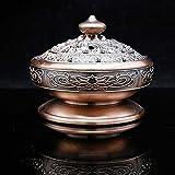 JONJUMP Quemadores de incienso aleación cobre tibetano loto budista titular de incienso té brasero sándalo metal decoración adornos