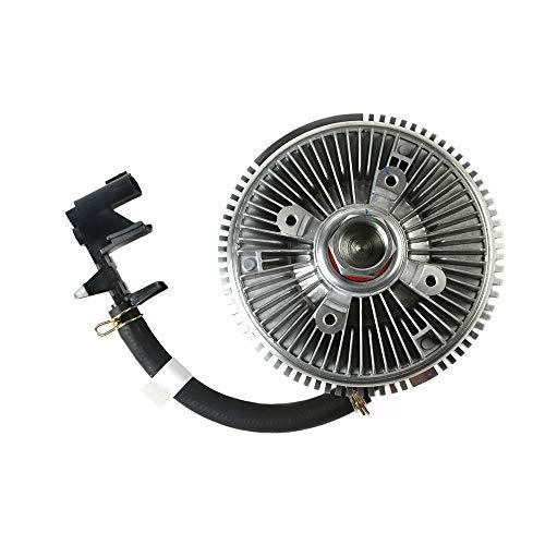 MOCA Electric Engine Cooling Fan Clutch for 02-09 GMC Envoy & for Chevrolet Trailblazer & 04-07 Buick Rainier & 02-04 Oldsmobile Bravada 4.2L L6 Gas DOHC