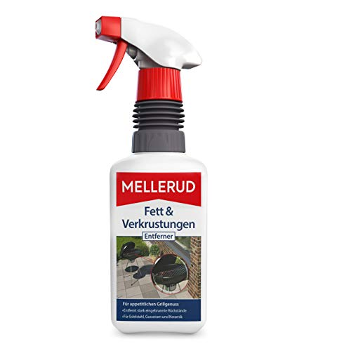 MELLERUD Fett & Verkrustungen Entferner – Ergiebiges Spray zur Reinigung von Eingebranntem, Fett und Verkrustungen – 1 x 0,5 l