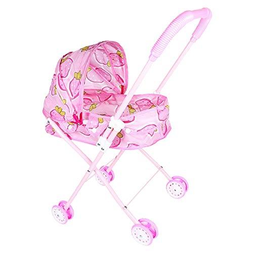 perfeclan Carrito de Empuje para Bebé, Carrito Plegable, Carrito de Muñecas, Los Niños Fingen