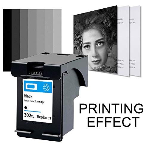 Migaven Cartucho de Tinta, Cartucho de Tinta de inyección de Tinta Negro reemplazo de Cartucho de Tinta Compatible con HP 302XL OfficeJet 3830 3831 3832 3833 3834 3835
