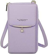 Womens Small Crossbody Cell Phone Wallet Shoulder Purse Leather Clutch Handbag