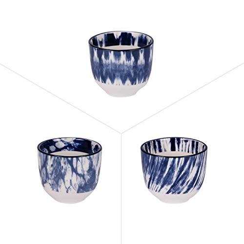 Table Passion - Lot de 3 gobelet à thé assortis 10 cl mist