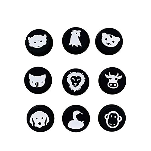 YUYAN PS5 Game Handle 9 in 1 Animal Button Cap PS4 Series Griff rutschfeste Silikonkappe Schutzkappe