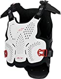 Alpinestars Men's A-4 Chest Protector (White/Black/Red, Medium/Large)