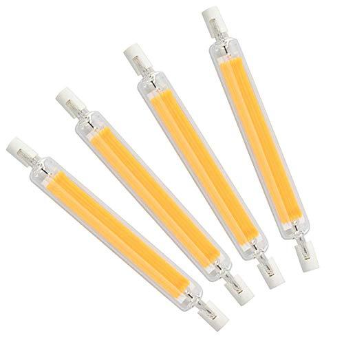 R7S 118mm Bombilla LED 20W J118 COB Filamento Chip J Tipo Bombilla de luz lineal Reflector de doble extremo Luz 200W Halógena de repuesto Reemplazo de reflector R7s de ahorro de energía, paquete de 4