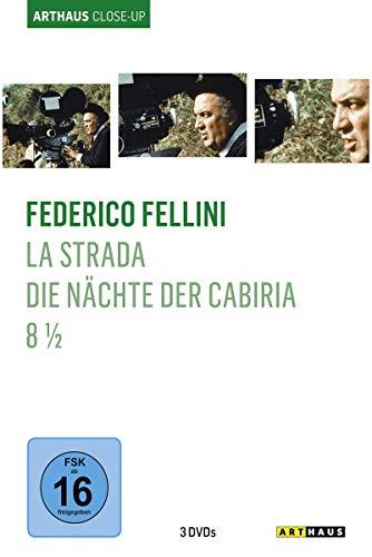 Federico Fellini - Arthaus Close-Up ( La Strada - Das Lied der Strasse / Die Nächte der Cabiria / 8 1/2 ) [3 DVDs]