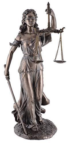 Veronese 708-7524 Justitia Figur bronziert Skulptur römische Götter 34 cm BGB