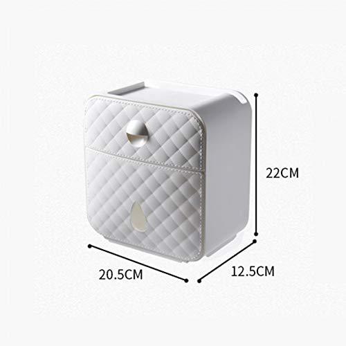 Toiletpapierhouder, creatieve toiletpapierhouder, waterdichte houder voor toiletpapier, badkamer, toiletpapier, opbergdoos, toiletpapierhouder wit