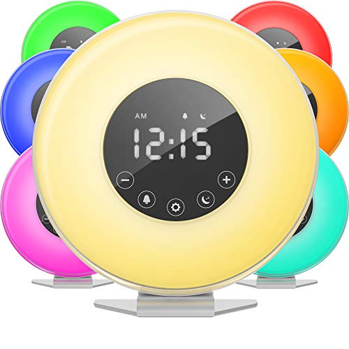 hOmeLabs Sunrise Alarm Clock - Digital LED Clock...