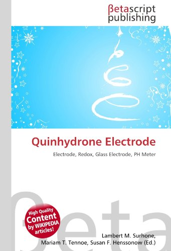 Quinhydrone Electrode: Electrode, Redox, Glass Electrode, PH Meter