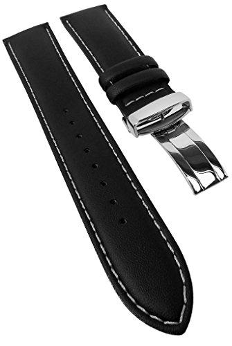 Correa de repuesto para reloj Casio Edifice de piel, color negro, 22 mm, EF-336L