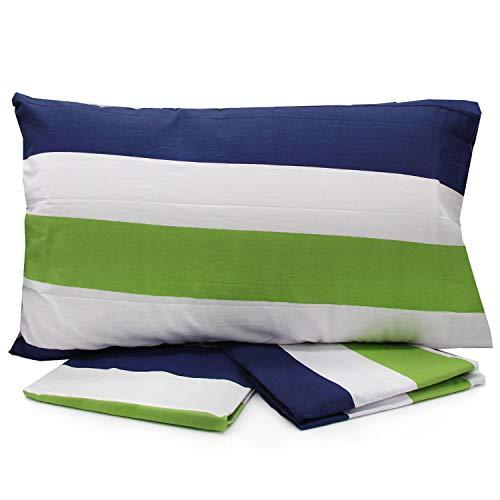 Juego de sábanas para cama individual, de una plaza y media francesa, de matrimonio Lovetextil multifantasía sobre la sábana bajera de la funda – Variante 1 individual (individual, variante 111)