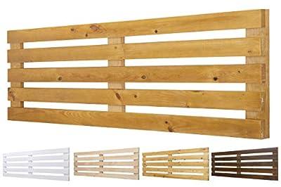 Color: Roble. Medidas: 145 cm de largo y 60 cm de ancho. Para camas de 135 cm 🌲LOS MATERIALES DE NUESTROS PRODUCTOS 🌲: Nuestros productos son fabricados con madera nueva maciza de pino de 1ª calidad. 🌲DECORACIÓN INIGUALABLE🌲: Con los palets puedes cr...