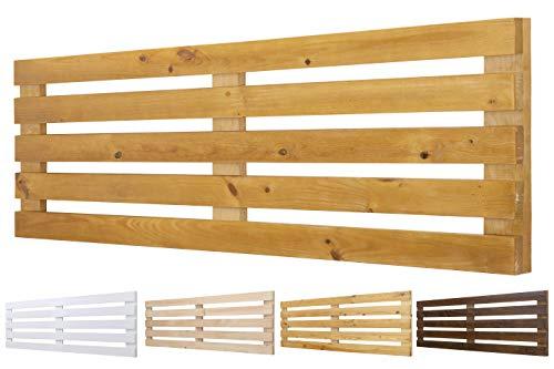 Cabecero de Madera Maciza Mod. Venecia para Camas de 80cm, 90cm, 110cm, 135cm, 150cm. Herrajes incluidosCIA (160cm X 60cm, Roble)