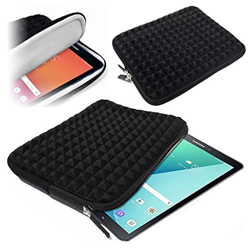 Funda de viaje acolchada de espuma duradera con interior de microfibra suave para Samsung Galaxy Tab 4 (7.0) 2014 [Negro]
