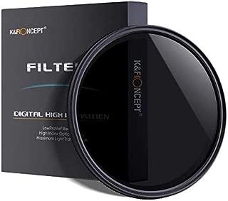 67mm NDフィルター 可変、K&F Concept 67mm 可変式NDフィルター 減光フィルター 減光範囲ND2~ND400 超薄型 カメラ用フィルター Canon 7D 700D 600D 70D 60D 650D 550D Nikon D7100 D80 D90 D7000 D5200 D3200 D5100 D5300デジタル一眼レフカメラ専用+超極細繊維布