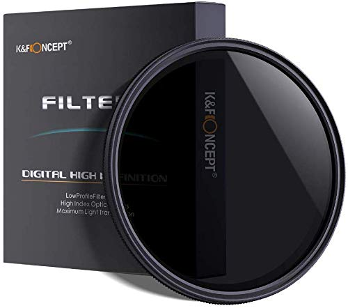 GREEN.L 49mm Variable ND Filter ND2-2000 Neutral Density Filter Nano Coating MRC18-Layer Schott Optics Glass